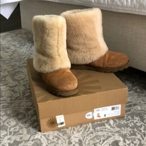 Barely worn UGG shearling lined boots